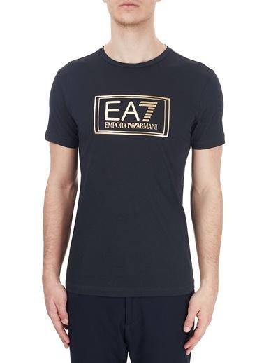 EA7 Emporio Armani  Baskılı Bisiklet Yaka % 100 Pamuk T Shirt Erkek T Shırt 6Hpt51 Pjm9Z 1578 Lacivert